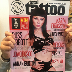 Arran Burton in Total Tattoo Mag