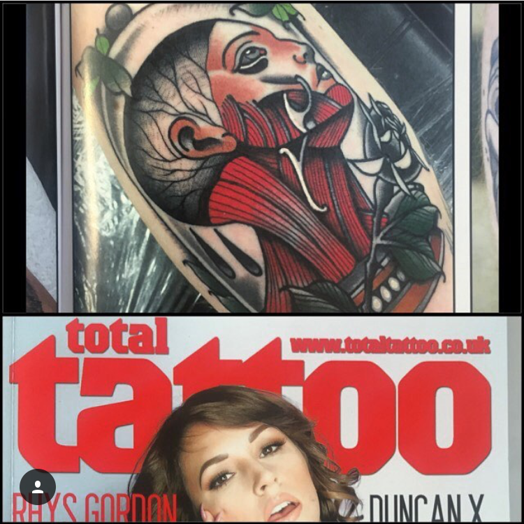 Myles in Total Tattoo Magazine