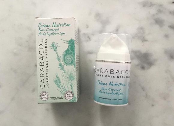 Crème visage à la salive d'escargot et à l'acide hyaluronique