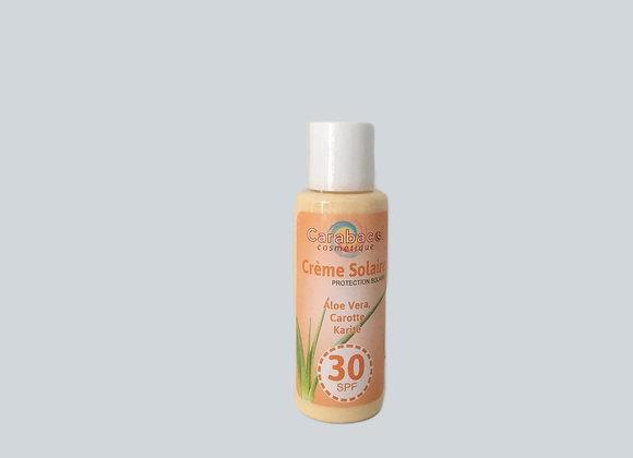 Crème solaire indice 30