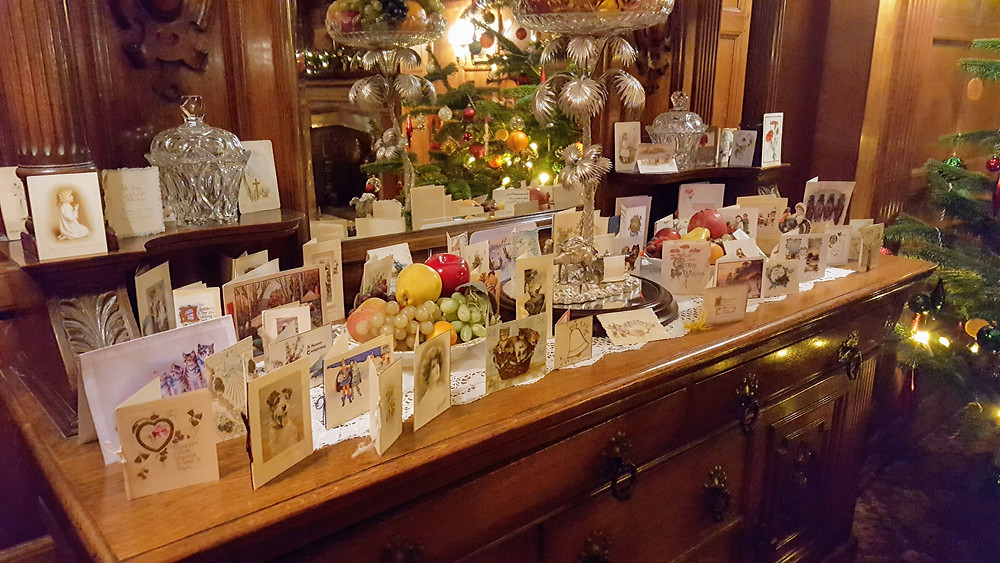 Victorian Christmas Cards Display