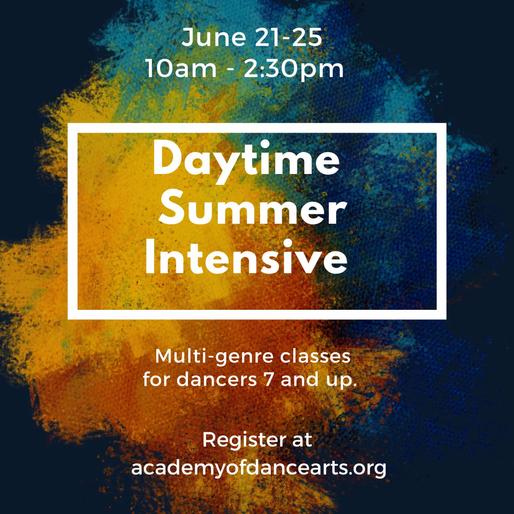 Daytime Summer Intensive June 21-25