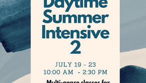 Daytime Summer Intensive July 19-23