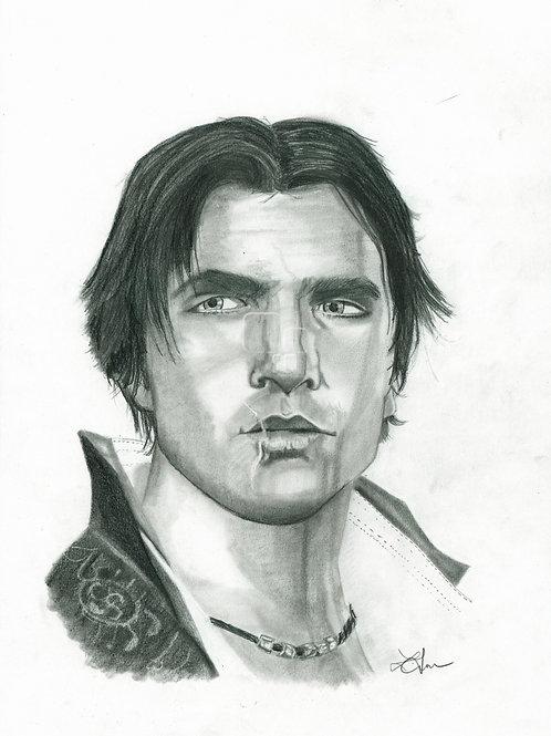 A3 Portrait Drawing  - Ezio (Assassin's Creed 2)