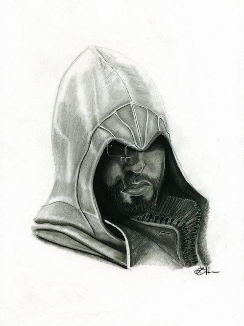 A3 Portrait Drawing  - Ezio (Assassin's Creed Brotherhood)