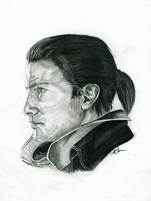 A3 Portrait Drawing  - Shay (Assassin's Creed Rogue)