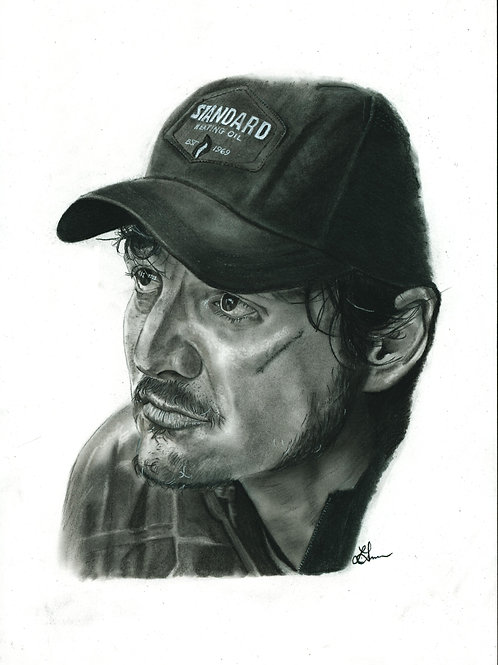"A5 Print - Pedro Pascal (Frankie ""Catfish"" Morales -Triple Frontier)"