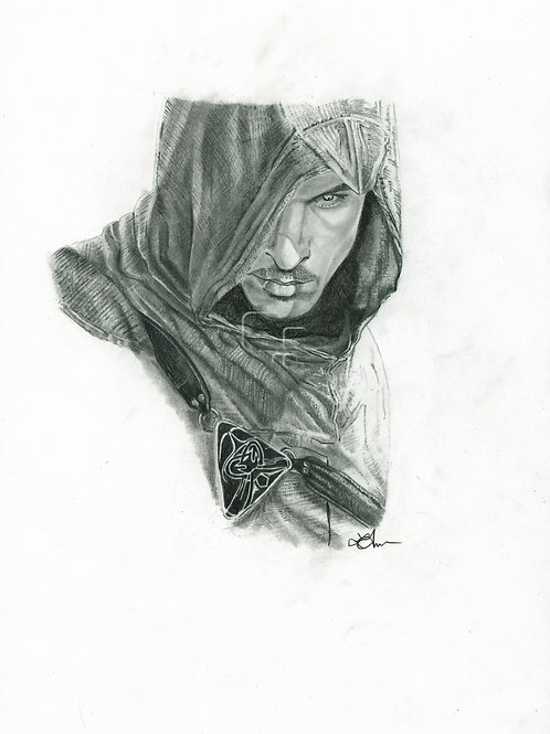 A3 Portrait Drawing  - Altair (Assassin's Creed)