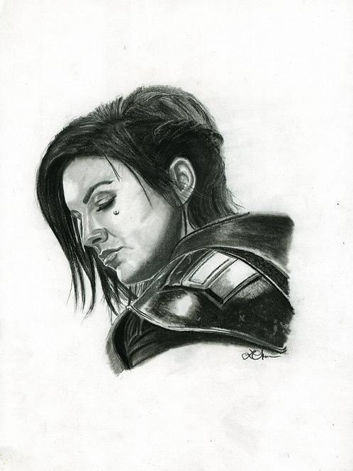 A5 Print  - Cara Dune (Star Wars - The Mandalorian)
