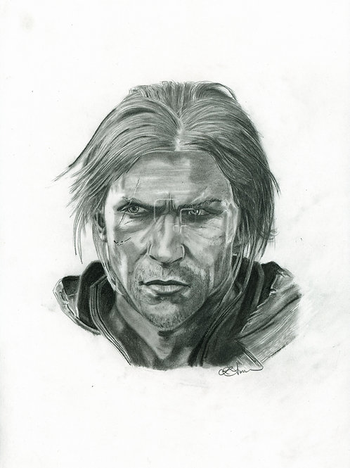 A3 Portrait Drawing  - Edward (Assassin's Creed Black Flag)