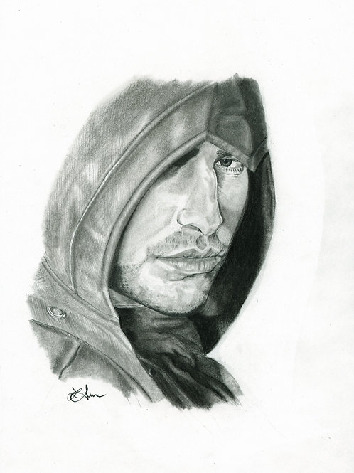 A3 Portrait Drawing  - Arno (Assassin's Creed Unity)