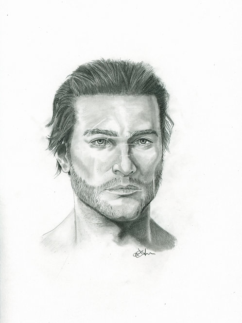 A3 Portrait Drawing  - Jacob Frye (Assassin's Creed Syndicate)