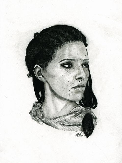 A3 Portrait Drawing  - Aya (Assassin's Creed Origins)