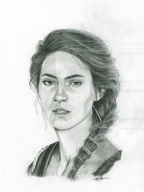 A3 Portrait Drawing  - Kassandra (Assassin's Creed Odyssey)