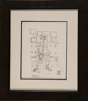 """One More Set"" original sketch, by Todd White"