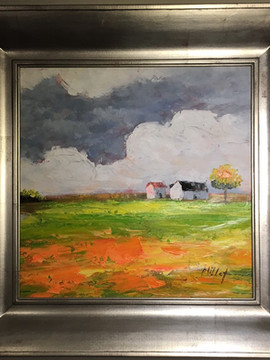 """""""Farm House"""", by Millet"""
