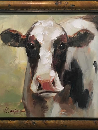 """Cow"" (small), by Simonini"