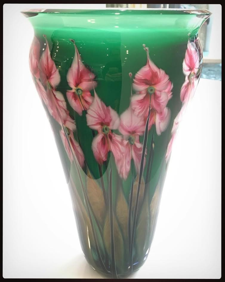 Green Floral Vase, by John Lotton