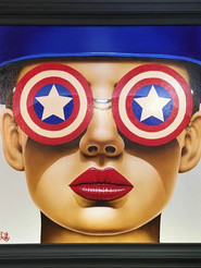 """Star Struck"" original, by Scott Rohlfs"