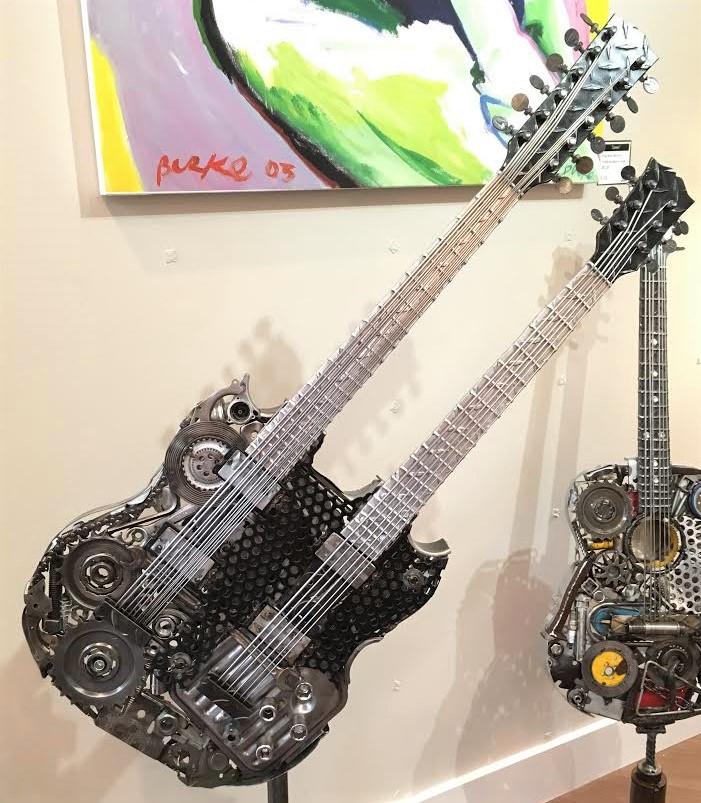 Double Neck Guitar (full body photo)
