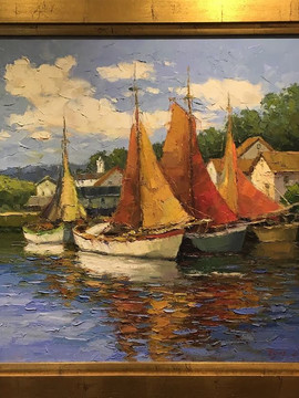 """""""Boats in the Harbour"""", by Seo"""