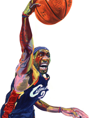 """LeBron James"", by Philip Burke"