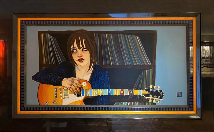 """""""Blues Girl At Heart"""" original, by Todd White"""