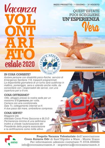 VACANZA VOLONTARIATO ESTATE 2020