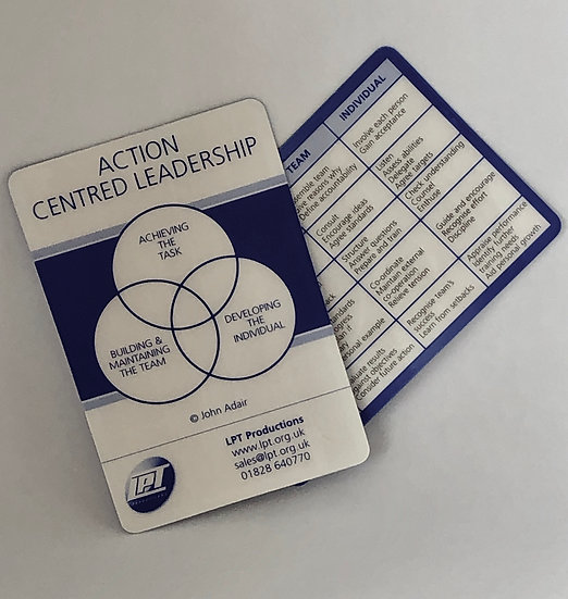 Action Centred Leadership Card