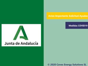 [Aviso Importante] Se suspende la solicitud de ayudas en Andalucía