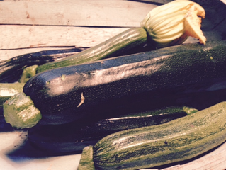 Turmeric and mustard courgettes