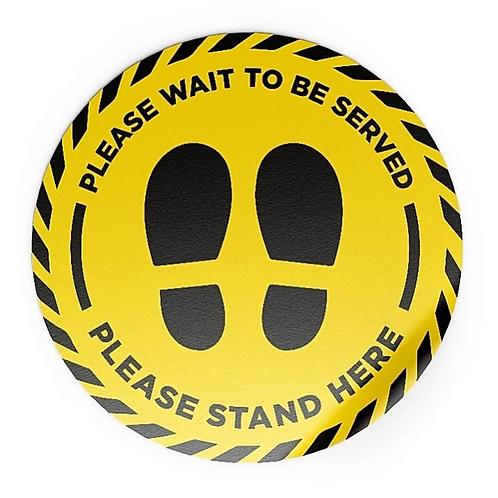 Circle Floor Stickers - Social Distancing