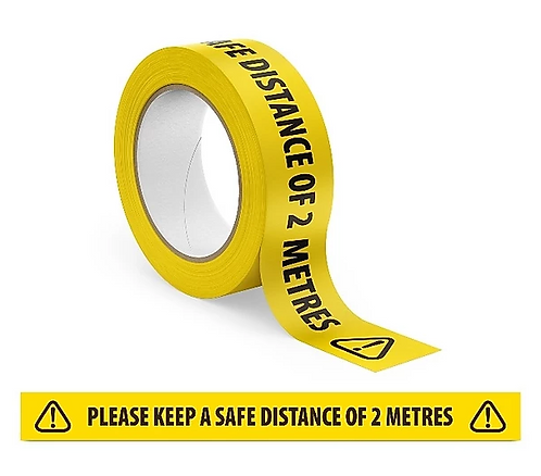 Floor Tape -'Keep A Safe Distance'