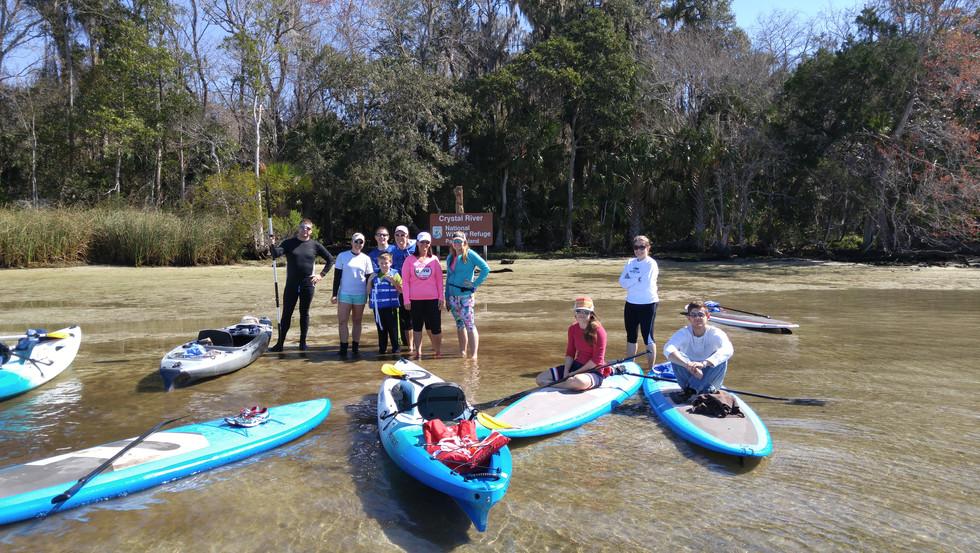 crystal river manatee paddle