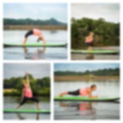 Fitness Instructor on paddle board