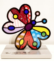 SILVER BASE SCULPTURE - GARDEN BUTTERFLY
