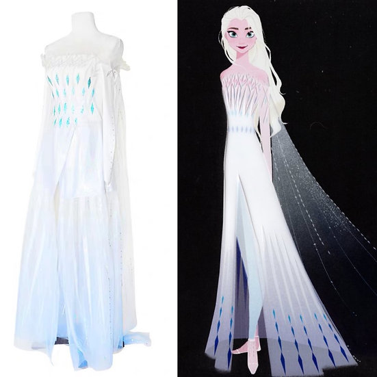 Dreamy collection Frozen2 Elsa white or lightblue Ice dress :: preorder
