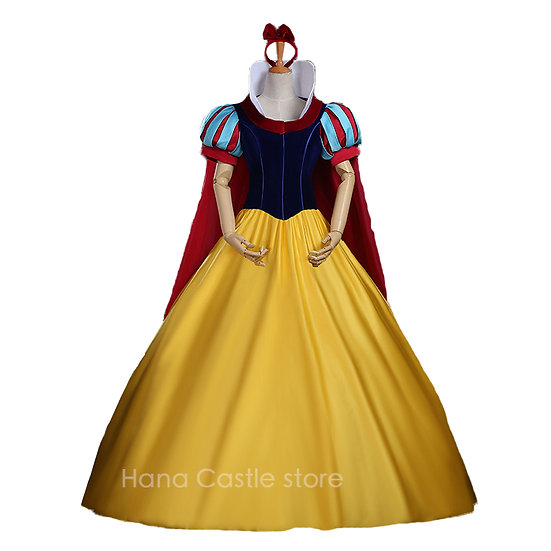 Hana Castle Disney Princess Snow White Party costume (cape+dress)