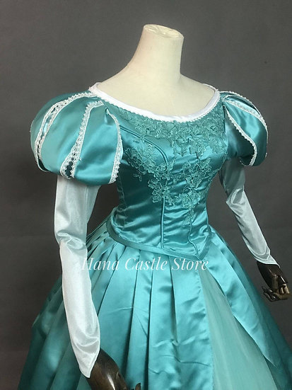 Disney Dreamy collection: Little mermaid Princess Ariel green embroidery dress