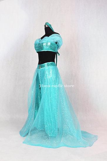 Dreamy collection Aladdin Jasmine green pant set