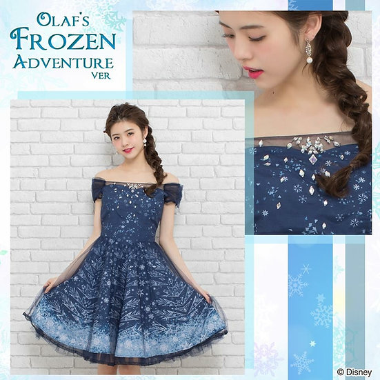 (Sold out)Secret Honey Frozen Olaf's adventure Elsa summer dress