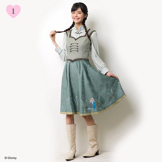 Disney Secret Honey Frozen Anna skater dress
