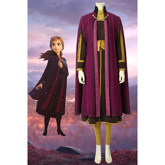 Dreamy collection Frozen2 Anna suede dress and cape