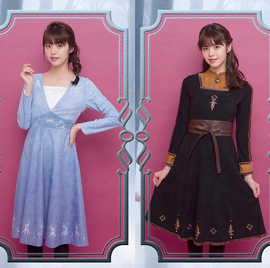 Secret honey Disney Frozen2 Elsa and Anna dress