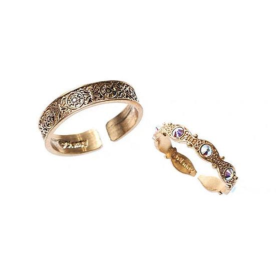 Secret Honey rapunzel ring pair