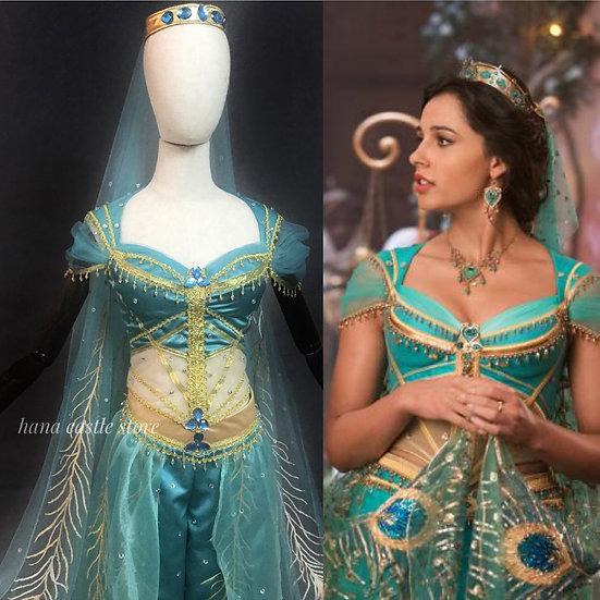 Disney Dreamy collection: Aladdin Movie Princess Jasmine green bespoke set