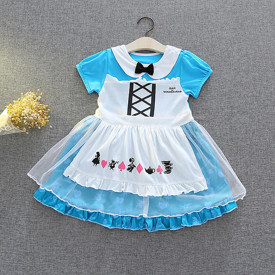 Disney Princess Alice in wonderland baby girl dress