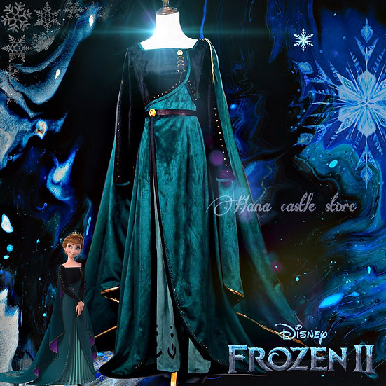 Dreamy collection Frozen 2 Anna green gown