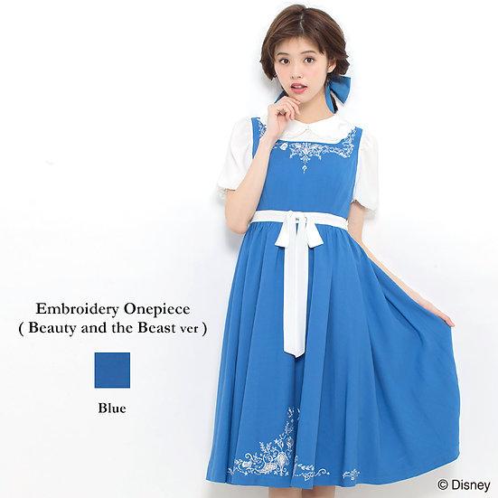 Secret Honey Beauty and the beast embroidery one piece dress