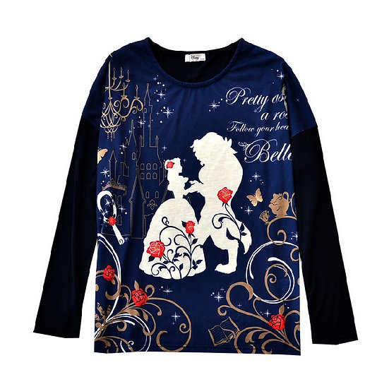 Japan Disney Beauty and the beast follow your heart  cotton top